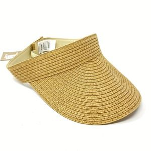 Madewell  Packable Straw Visor Hat in Tan